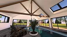 extension d une maison avec piscine int 233 rieure