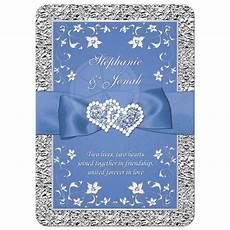 Blue And Gray Wedding Invitations
