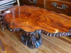 tisch aus baumstamm wurzelholz classic style solid rustic tree trunk coffee table design