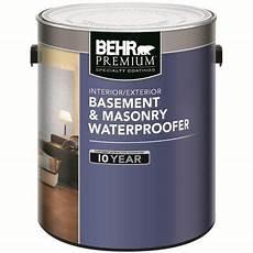 behr behr premium basement masonry waterproofer paint white 3 73 l 87501c home depot