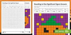 maths halloween rounding to one significant figure mosaic