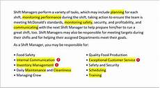 fast food resume exles skills description tips