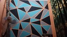Mengecat Dinding Kamar Dengan Motif Geometri Geometric