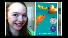 review rules by cynthia lord youtube