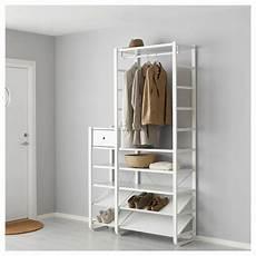 armadi guardaroba ikea elvarli hallway wardrobe white 125x40x216 cm ikea