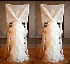 2015 new arrival chiffon chair covers for weddings flouncing ruffles diy creative wedding