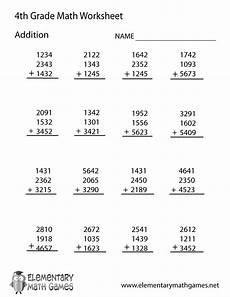 4th grade math worksheet addition fourth grade addition worksheet