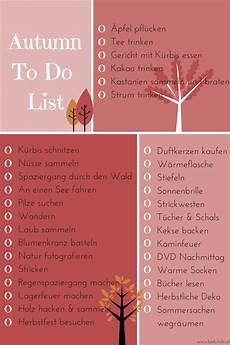 Autumn To Do List Elemente Herbst List Herbst