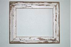 11x14 chippy white wood frame reclaimed cottage