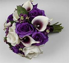 purple wedding bouquet purple calla bouquet purple etsy