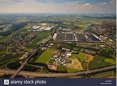 Aerial View Volkswagen Factory In Stockfotos Aerial View