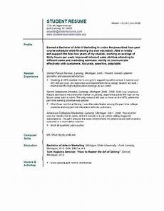 resume template for current college student free sle