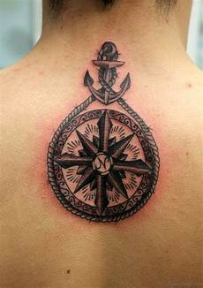 46 fancy compass tattoos for back
