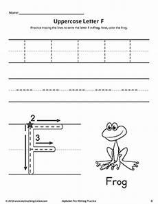 uppercase letter f pre writing practice worksheet myteachingstation com