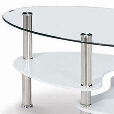 Deco In Table Basse En Verre Trempe Ovale Opunake