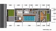 Desain Dan Denah Rumah Dengan Ukuran 7 X 18 M Terdapat 3