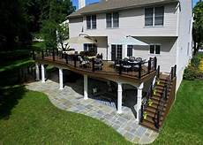 Patios Decks Style Classic elevated deck designs safety features for above ground decks