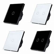 black white glass luxury 2 1 way led dimmer touch