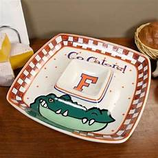 florida gators gameday ceramic chip dip serving tray