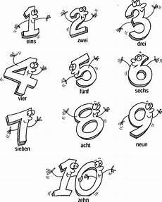 Zahlen Ausmalbilder Bis 10 Die Zahlen 1 Bis 10