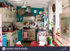 Küche 60er Style - eclectic kitchen with 1950 s units and st