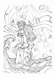 ausmalbilder erwachsene meerjungfrau kinder zeichnen und