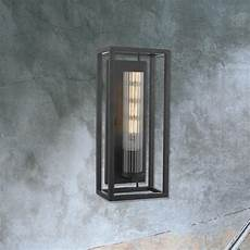 black metal open box wall light cl 34041 e2 contract