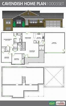 open concept bungalow house plans canada cavendish 3 bedroom 2 bath home plan features large
