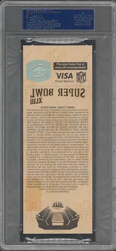 ticket bid lot detail 2009 bowl xliii ticket gold