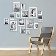 bildergalerie an der wand 15er set bilderrahmen weiss modern massivholz gr 246 223 en 10x10