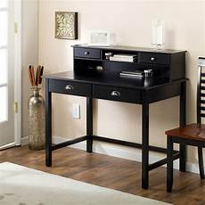 Wooden Bedroom Desk by Black Desk With Hutch