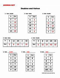 doubles and halves in out boxes with images everyday math doubling and halving doubles