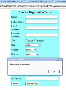 application form registration form template html code