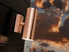brushed copper wall light brushed copper wall light up down