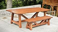 how to build a farmhouse table and benches for 250 woodworking diy youtube
