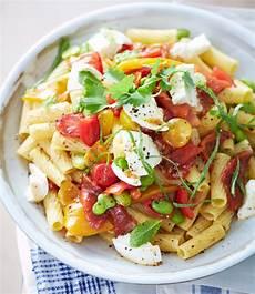 Nudelsalat Mit Mozzarella Sauce Und Bohnen Rezept Essen