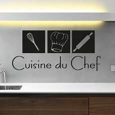 stickers ecriture pour cuisine sticker d 233 co cuisine du chef pas cher stickers citations