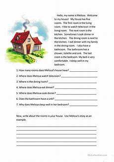 comprehension worksheets 15452 rooms of the house reading comprehension worksheet free esl printable worksheets made by teachers