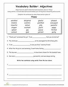 synonyms for happy for the vocabulary worksheets grammar worksheets vocabulary