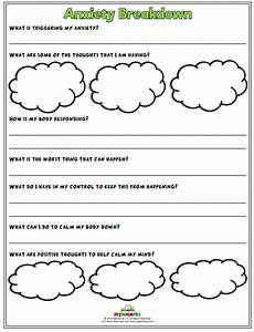 anxiety worksheets for kids and
