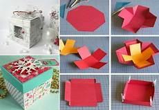 Kiste Selber Basteln - explosionsbox basteln zu weihnachten geschenk und