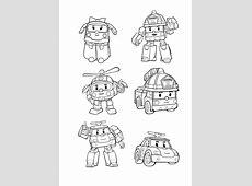 3 dessins de coloriage Robocar Poli Gratuit à imprimer