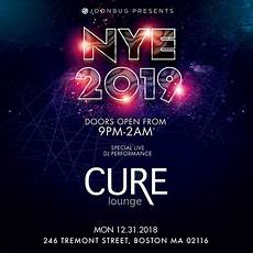 boston cure lounge vip nye party buy tickets now