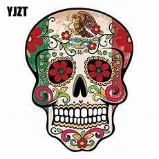 yjzt 10 2cm 13 5cm mexican sugar skull car sticker
