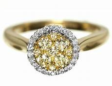 yellow canary diamond engagement band ring in 14k