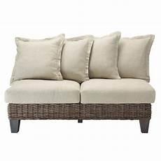 divanetto rattan divanetto da giardino in rattan kubu chiaro 2 posti cap