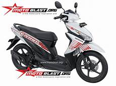 Modifikasi Motor Vario 110 Fi by Modif Striping Honda Vario 110 Fi White Motoblast