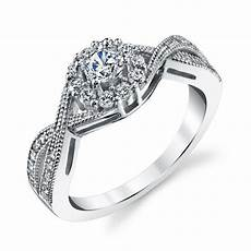 sterling silver bridal cz engagement wedding ring with