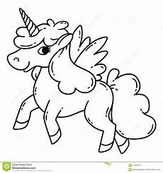 Malvorlagen Wings Unicorn Unicorn With Wings Stock Vector Illustration Of Draw