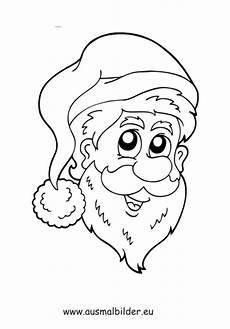 Malvorlagen Nikolausgesicht Ausmalbild Weihnachtsmann Gesicht Kostenlos Ausdrucken